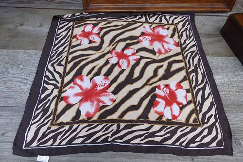 Květy divoké...hedvábný šátek