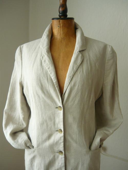 lněný kabát