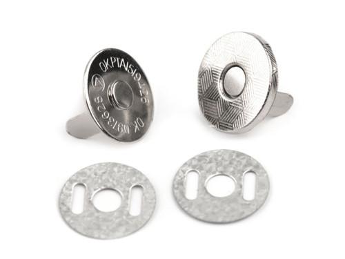 Magnetické zapínání tenké Ø14mm(5sad) - nikl
