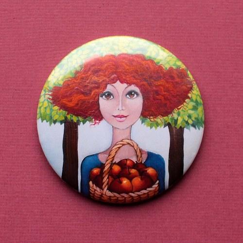 Sbírám jablka- magnet 130
