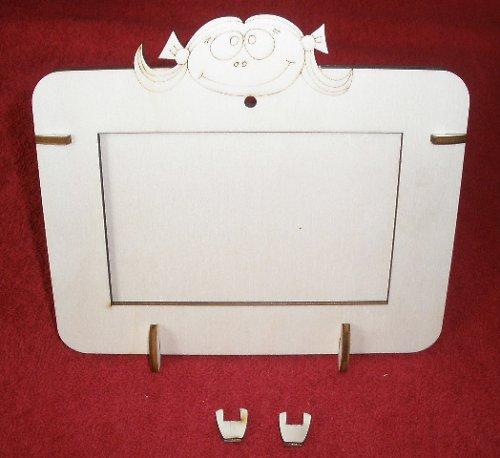 2v1 rámeček na šířku fota 10x15cm - HOLČIČKA