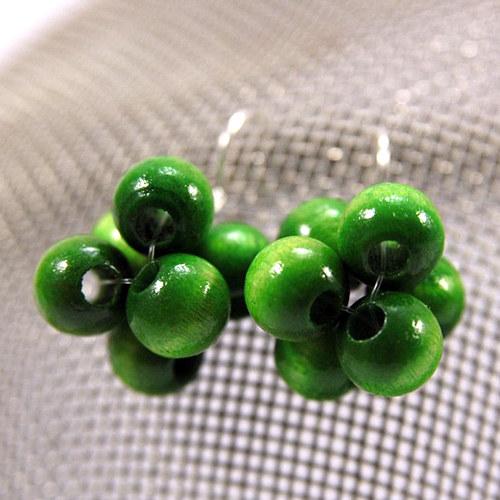 Náušnice Berries Light Green