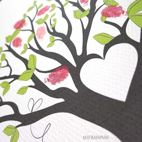 Svatební strom - k vytištění