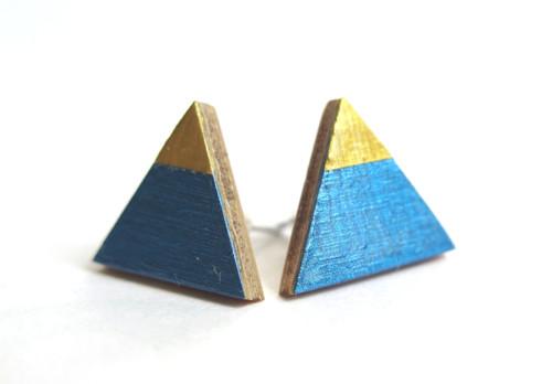 Triangel modrá/zlatá