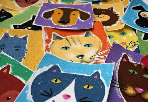 Kočkopes - nažehlovací textilní obrázky
