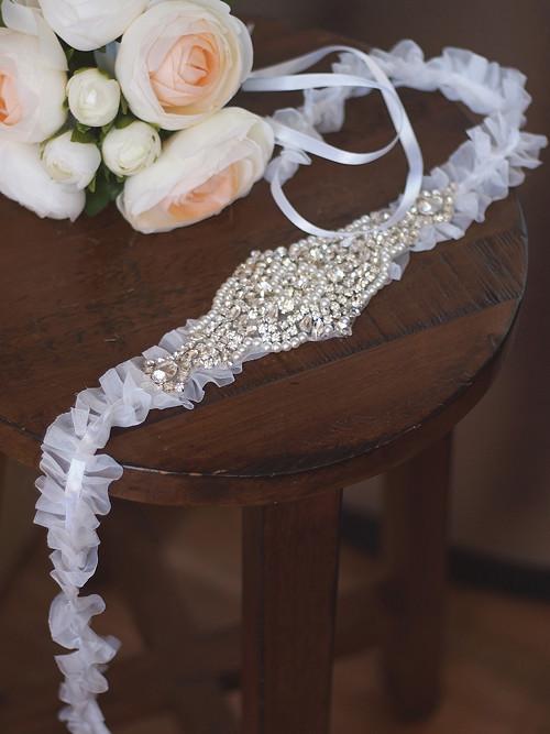 univerzální svatební šperk - opasek, čelenka atd.