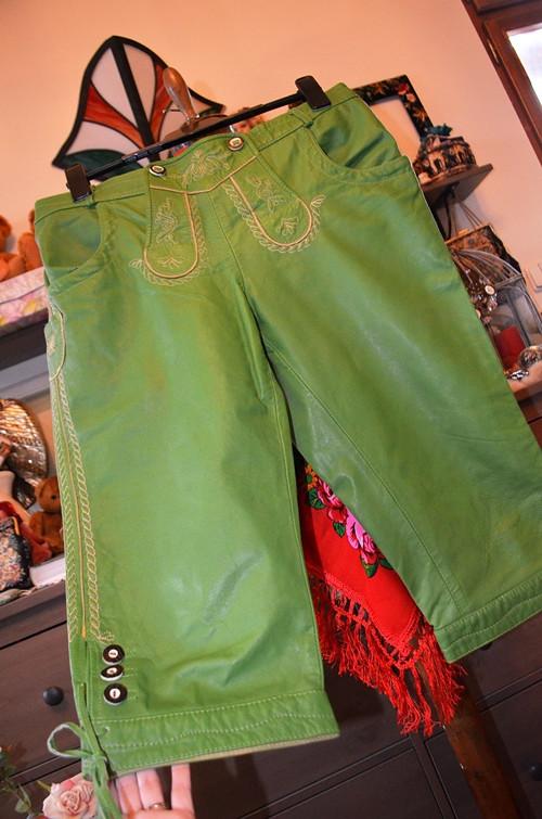 Úžasné zelené kožené padačky pánské