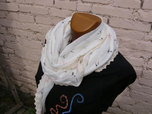 Hedvábný šátek plaměňákový