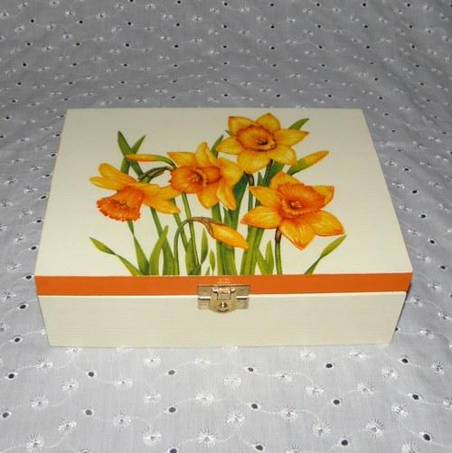 Narcisková krabička na čaj II.