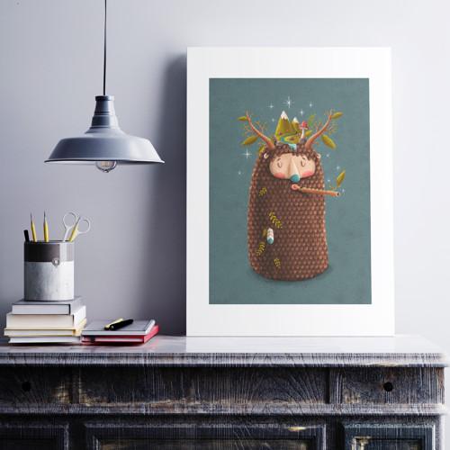 Yeti Autumn - Art print