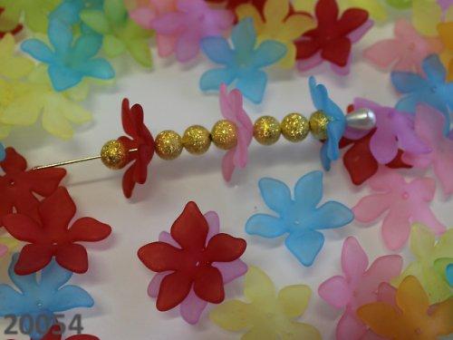 20054 Kaplík akrylový plochý květ, bal.5ks