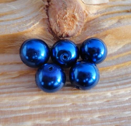 Skleněné perličky modré