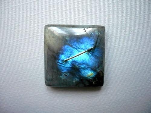 Kabošon - labradorit modrý 25 mm, č.80