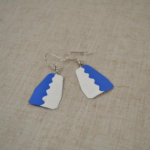 Modro-bílé náušnice