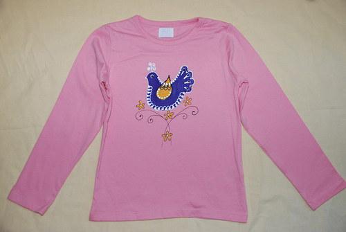 Tričko s ptáčkem