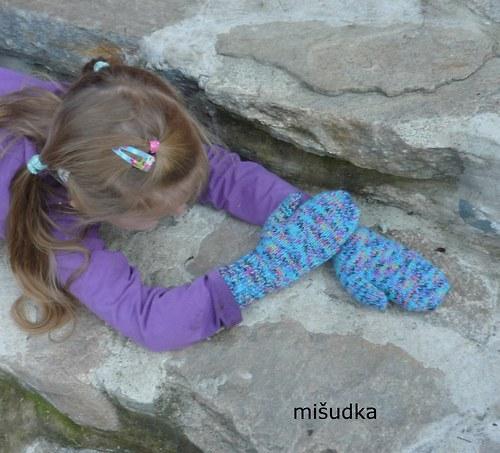 Rukavice jako od maminky - dětské 33 kropenaté