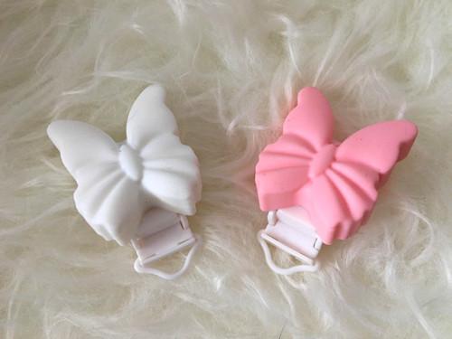 Klipy motýlci - bílé