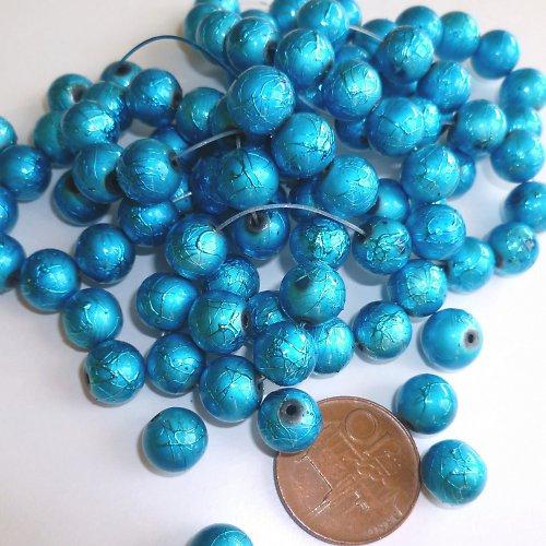 Korálky metalizované 10 mm 12 ks
