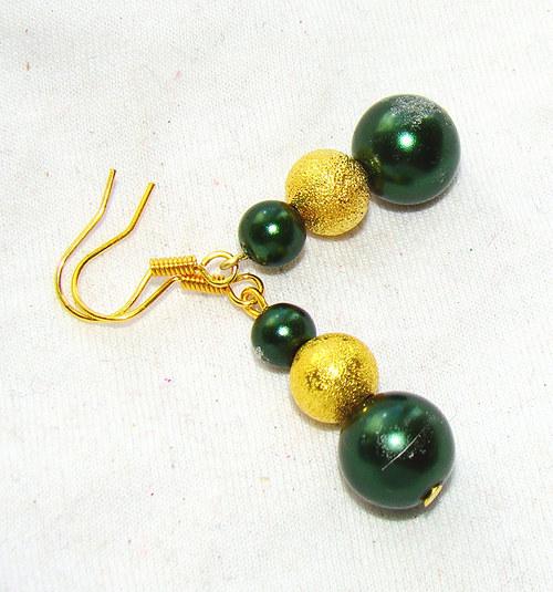 náušnice perličky ve zlaté