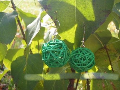Náušnice zelené