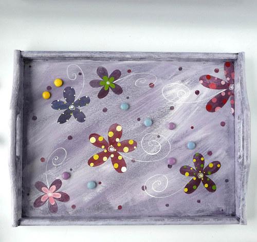 záložní padák velký - s květy na hrob