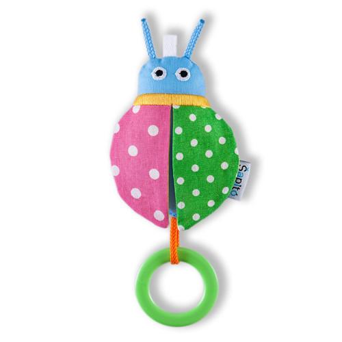 Beruška zelený puntík / růžový puntík - chrastíko