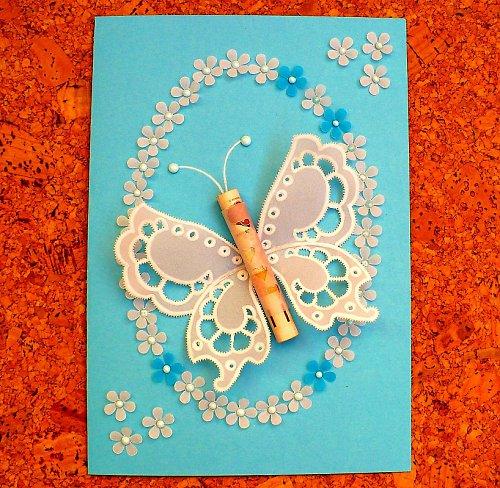 78.  Darovací motýl - blahopřání