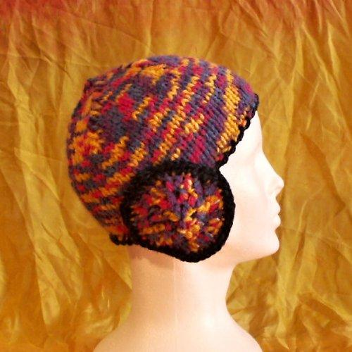 čepice pletená a háčkovaná