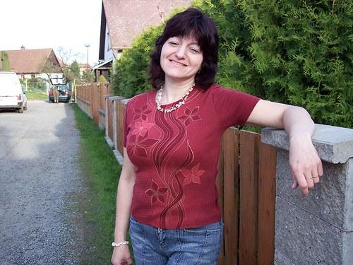 Tričko červené vínko