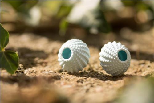 Náušnice ježovka baby blue