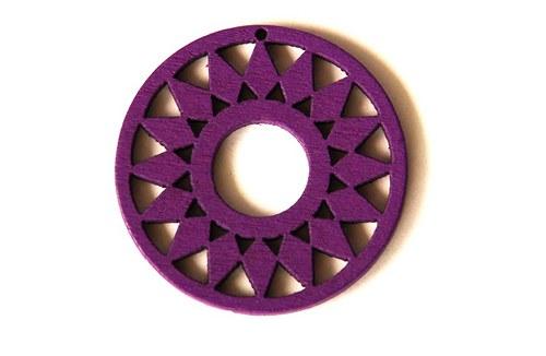dřevěná kolečka- fialová