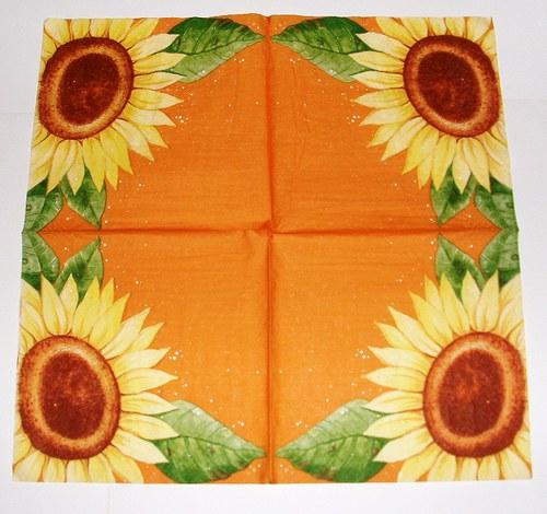 slunečnice na hnědé