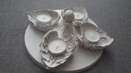 Andělský svícen kulatý