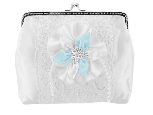 Dámská kabelka bílá, svatební kabelka E8