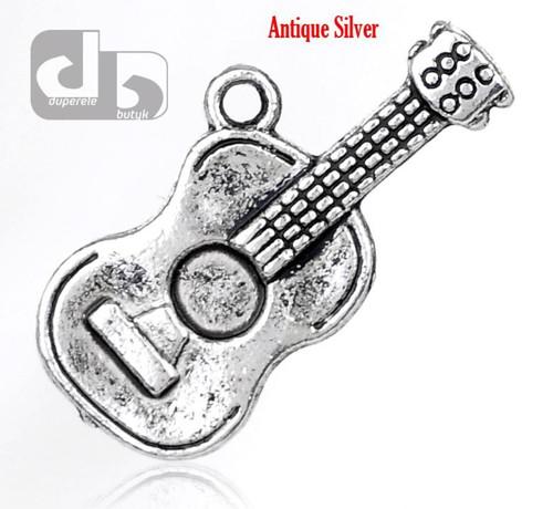 Stříbrný přívěšek kytary 25 mm