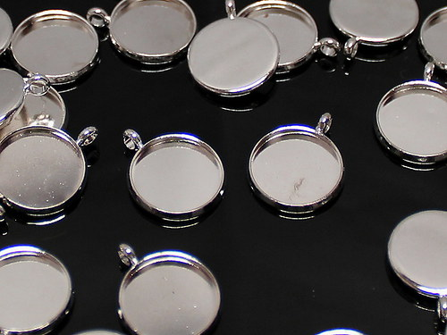 22269 Bižuterní lůžko stříbrné 10mm, bal. 4ks!!