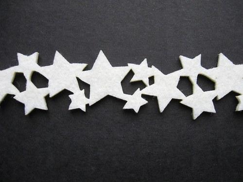 Výsek z plsti - stuha hvězdy (1ks)