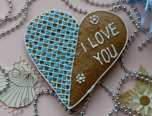 """Valentinské srdce s nápisem \""""I love you\"""""""