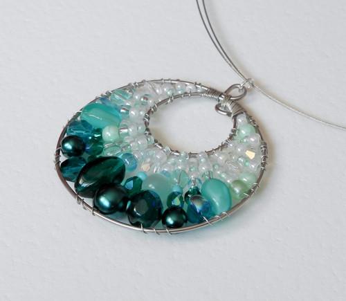 Smaragdové mámení - náhrdelník