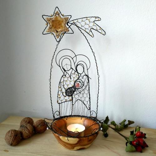 Svatá rodina - svícínek