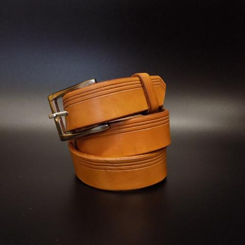 Kožený opasek 3 cm - cedr