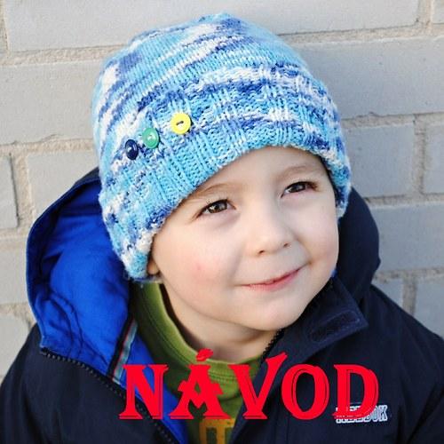 Návod na dětskou melírovanou čepici- předškolák **