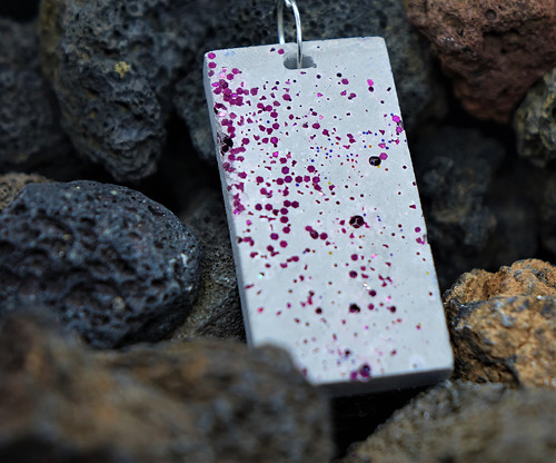 Třpytivý beton růžový velký