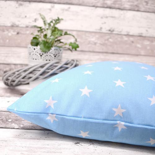 Polštářek STARS pastelově modrý
