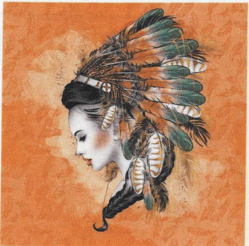 bavlněná látka - panel 12 x 12 cm