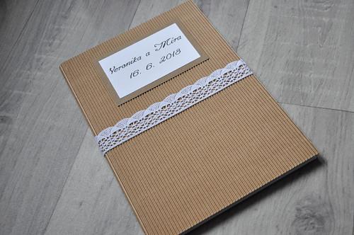 Svatební kniha hostů A4 - hnědá s popisem!