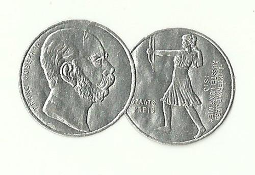 Medaile ocenění vídeňská výstava 1910 FJI