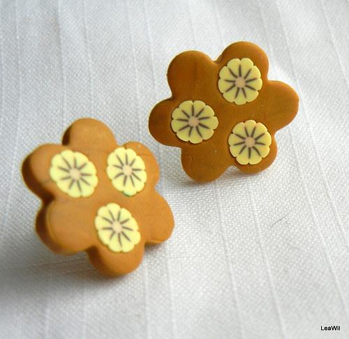 Perníkové květinky - naušky květinky pecky
