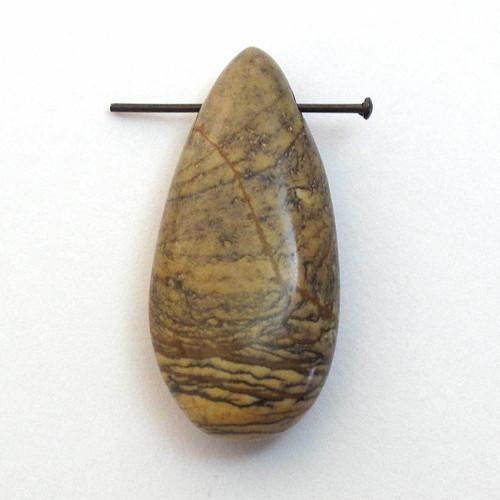 Přívěsek  obrázkový jaspis kapka 30mm
