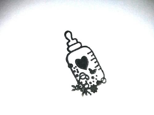 Razítko lahvička 3 cm - bez bločku